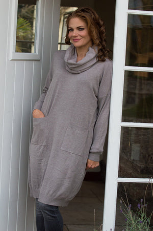 Grey Midi Jumper & Snood