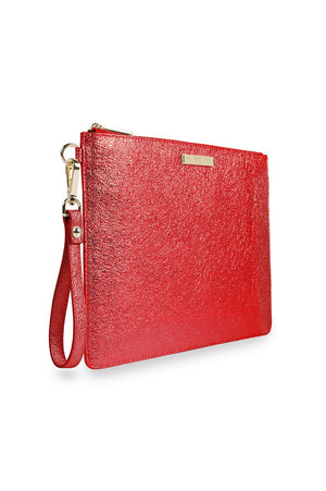 Katie Loxton Metallic Red Krush Klutch