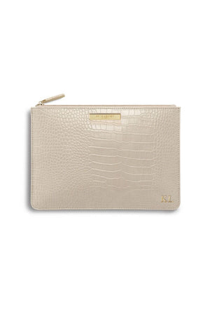 Katie Loxton Oyster Celine Croc Perfect Pouch