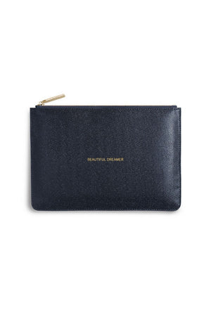 Katie Loxton 'Beautiful Dreamer' Shiny Navy Perfect Pouch