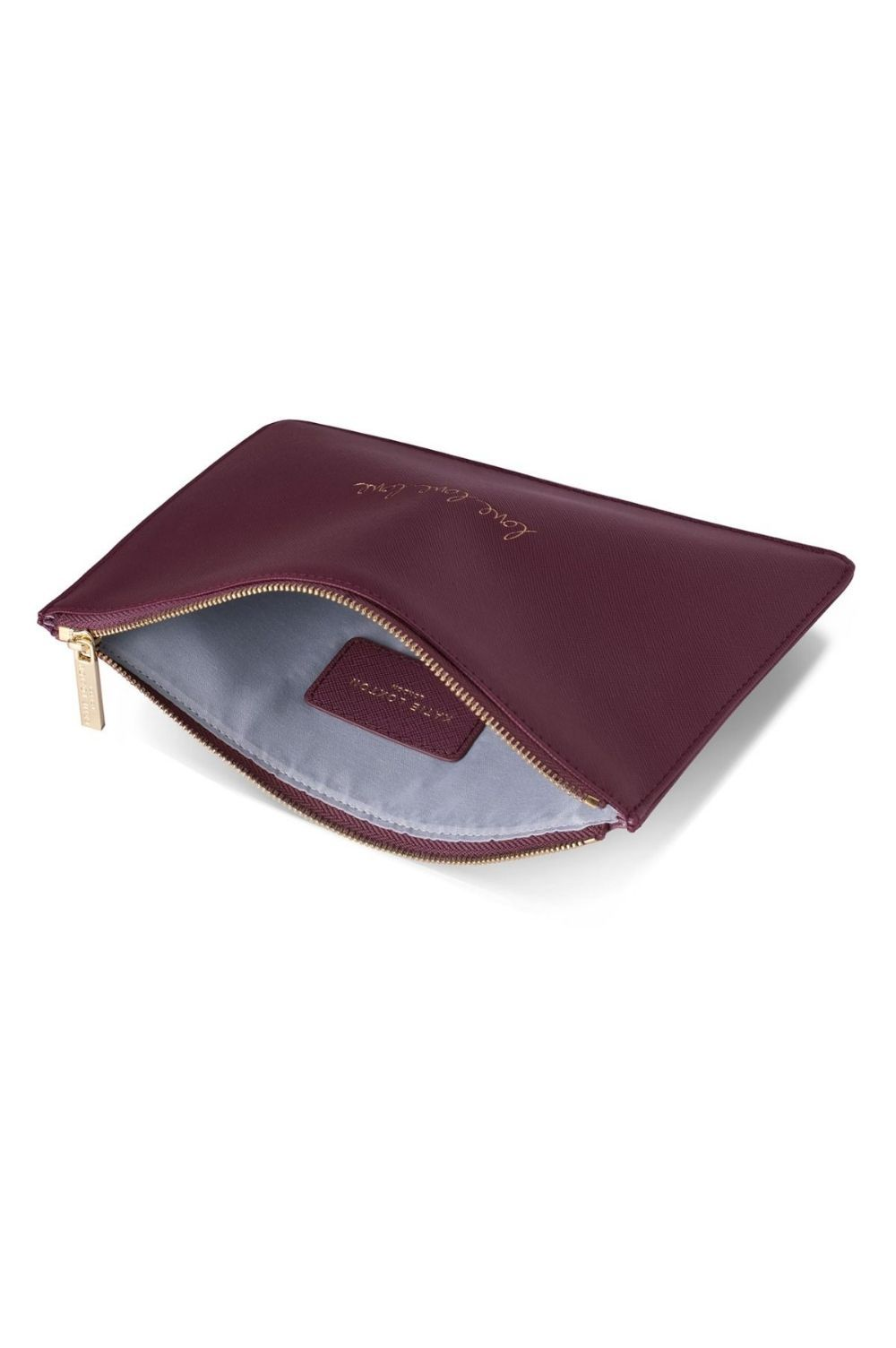 Burgundy Gift Bag Katie Loxton LOVE LOVE LOVE Perfect Pouch Clutch Bag