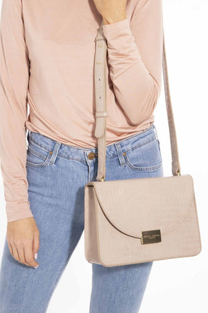 Katie Loxton Oyster Faux Croc Crossbody Bag