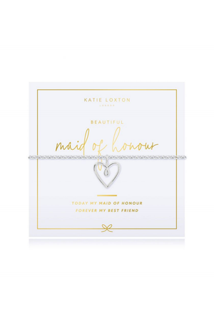 Katie Loxton 'Maid of Honour' Pouch & Bracelet Gift Set