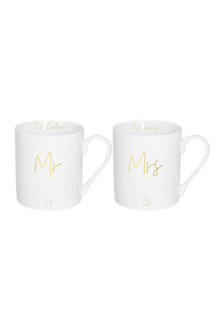 Katie Loxton Mr & Mrs Porcelain Mug Gift Set