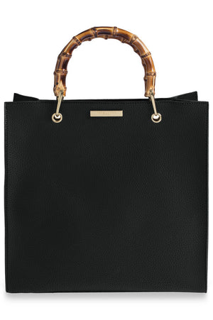 Katie Loxton Black Square Bamboo Bag