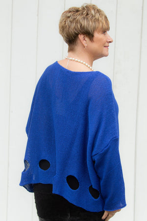 Electric Blue Knitted Melissa Jumper