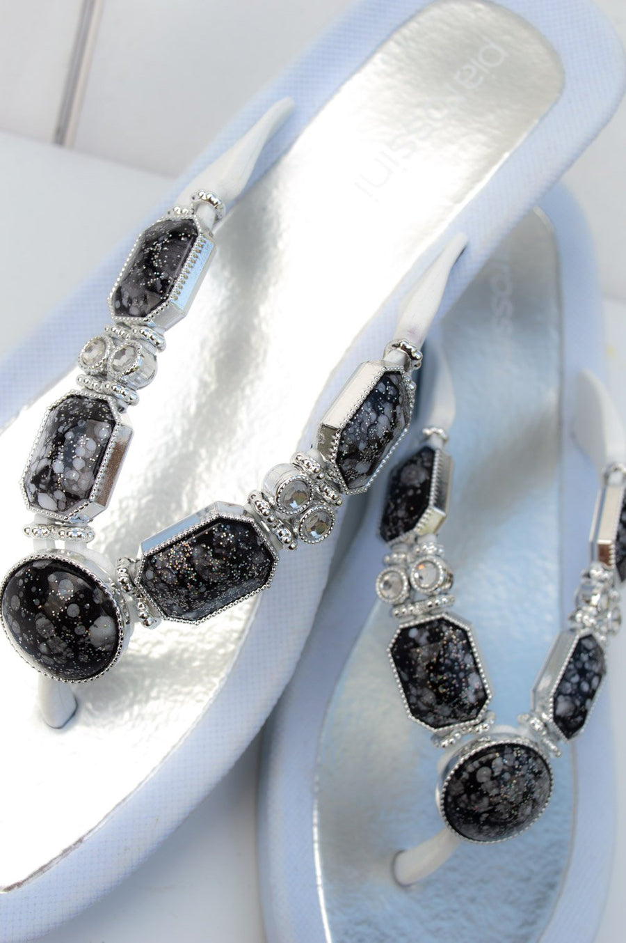Grey and White Granite Gem Sandal