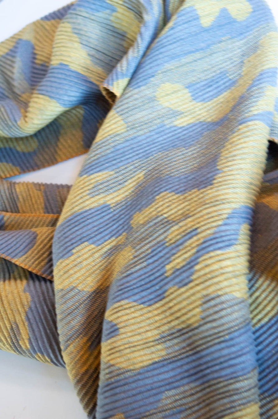 Charcoal & Yellow Camo Textured Scarf