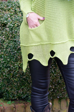 Lime Longline Knitted Melissa Jumper