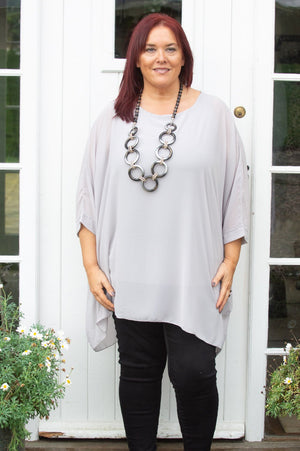 Grey Waterfall Molly Blouse