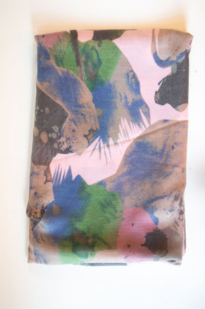 Pink & Mauve Watercolour Print Scarf