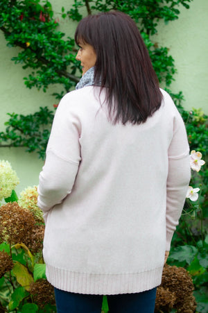 Blush Pink Triple Pocket Jumper
