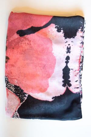 Pink Abstract Print Scarf
