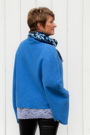 Blue Diamante Poncho