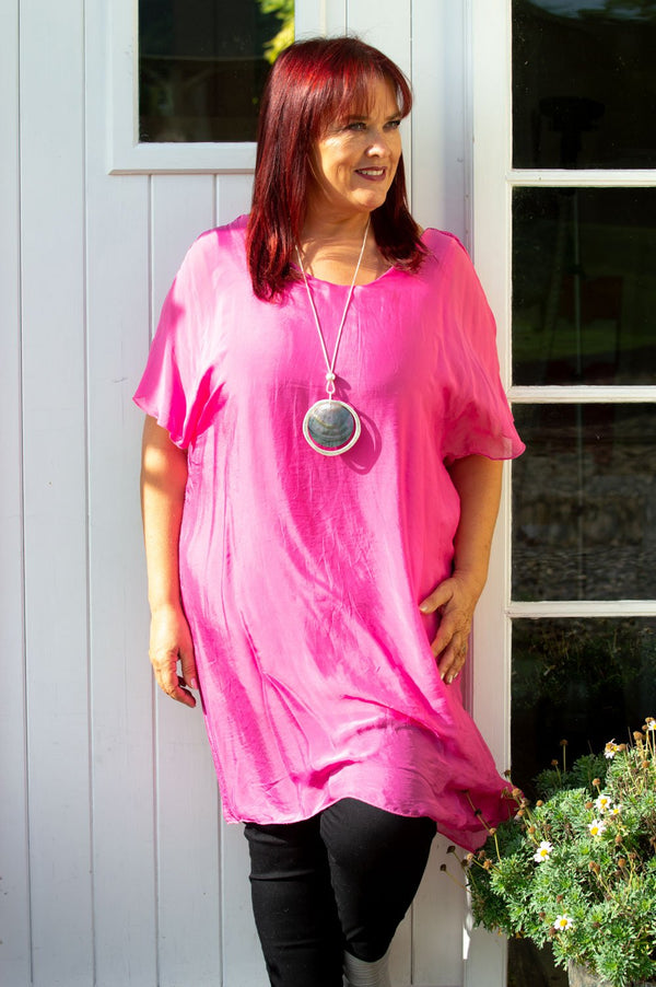 Fuchsia Silk Top