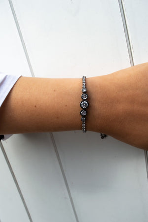 Diamante Bracelet in Rose Gold, Black and Silver