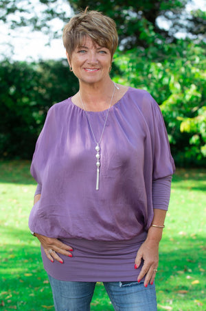 Purple Layered Blouse