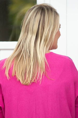 Fuchsia Gem Star Lightweight Jumper
