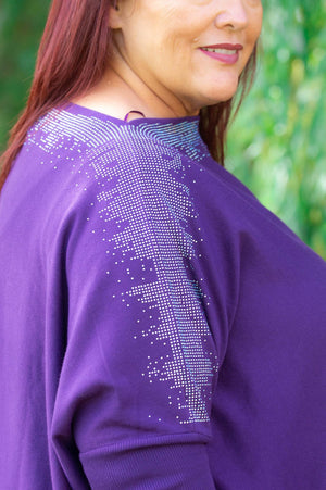 Purple Embellished Jumper