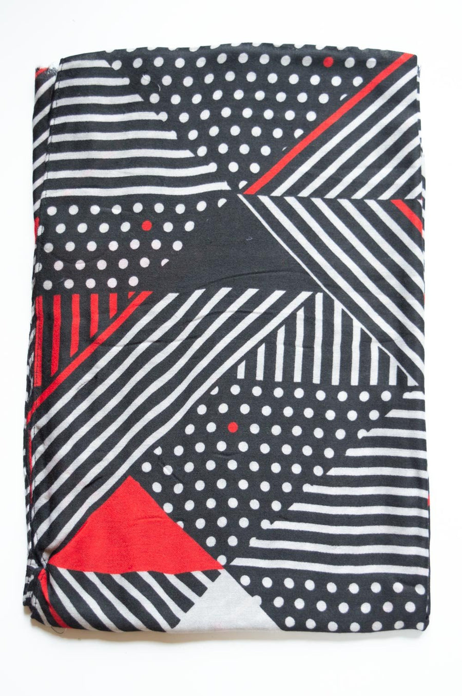 Black & Red Pattern Scarf