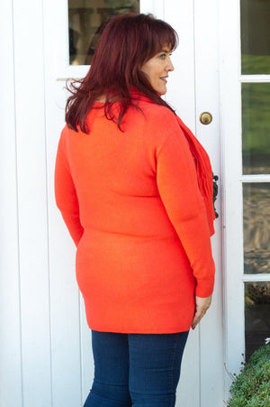 Orange Pocket Jumper & Scarf Set