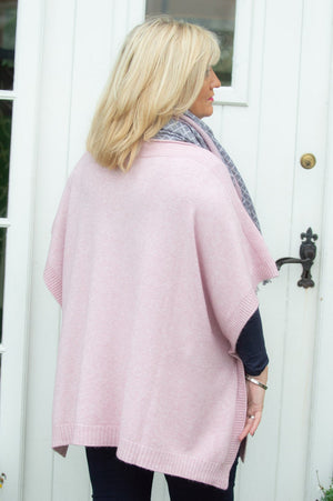 Dusty Pink Knitted Poncho