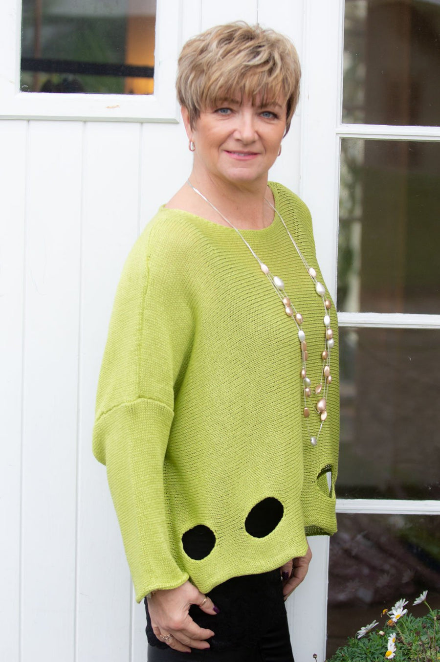 Lime Knitted Melissa Jumper