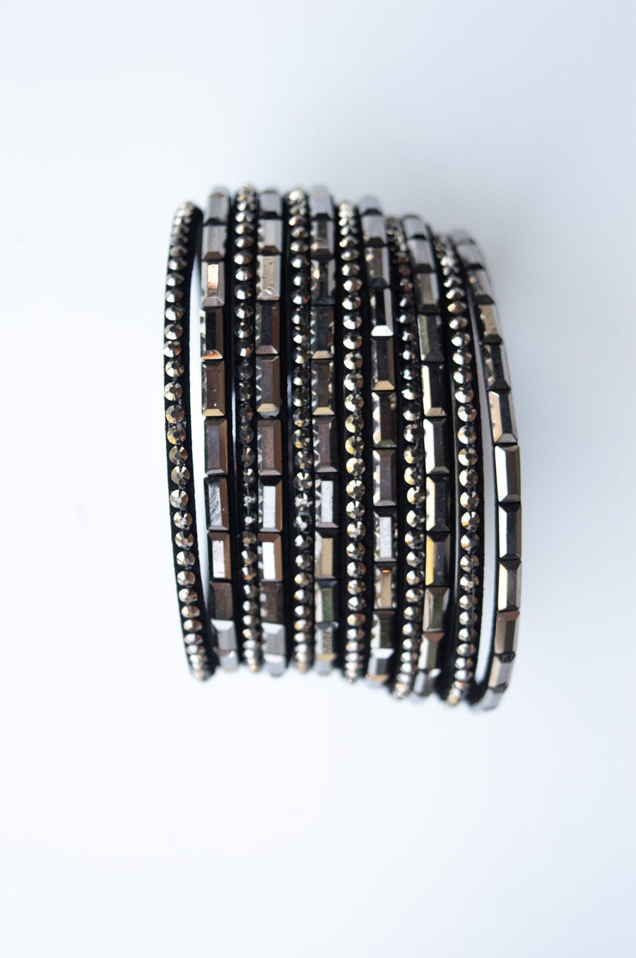 Brown Diamante Thick Bracelet