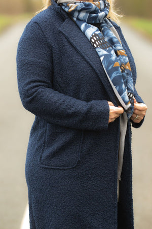 Navy Duster Coat