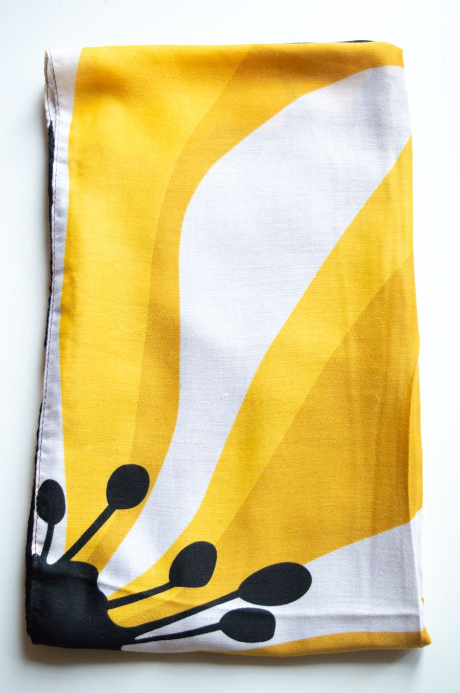 Yellow Block Floral Scarf