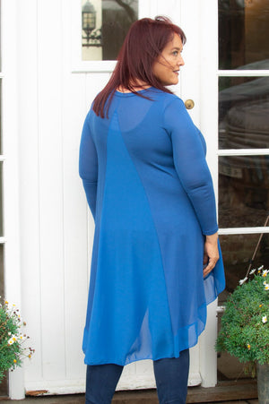 Royal Blue Waterfall Lightweight Top