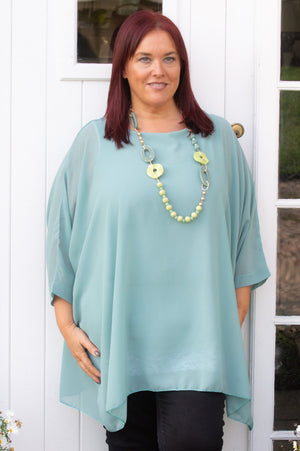 Sage Waterfall Molly Blouse
