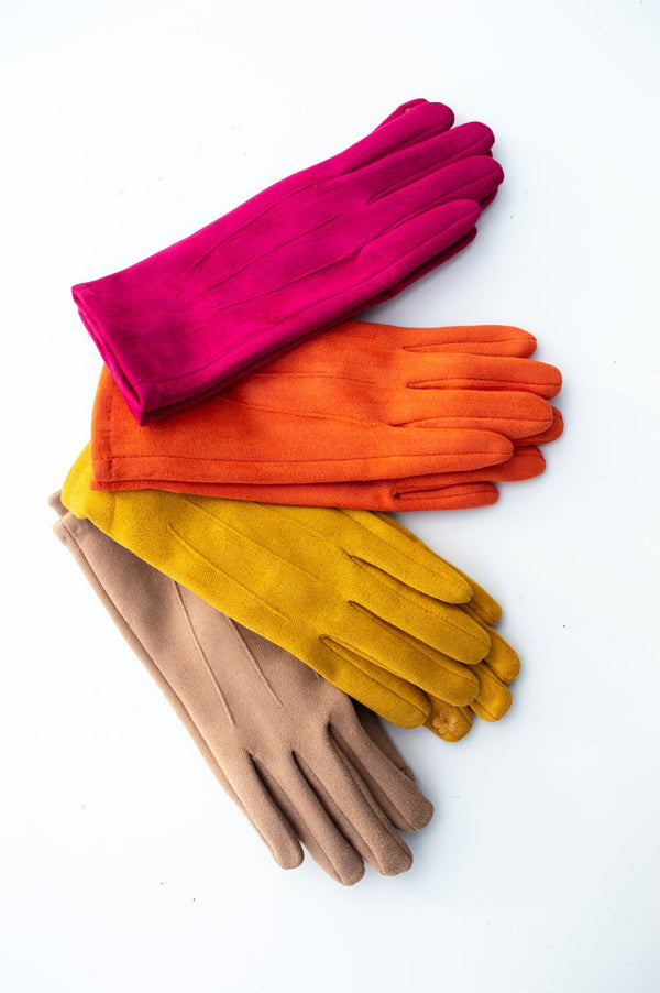 Faux Suede Soft Touch Gloves