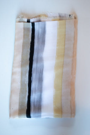 Beige Striped Scarf