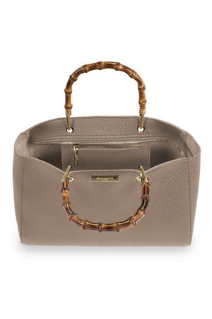 Katie Loxton Small Taupe Bamboo Bag