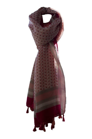 Pink Abstract Scarf
