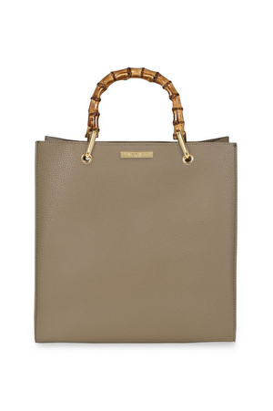 Katie Loxton Taupe Square Bamboo Bag