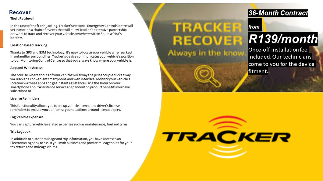 TRACKER RECOVER