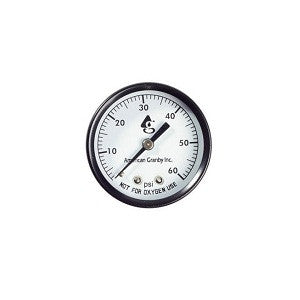 Pressure Gauge Back Mount 0-60 PSI 1/4-Inch Connection for Swimming Pool Equipment