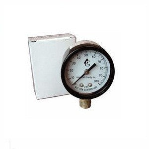 Pressure Gauge Bottom Mount 1/4-Inch Connection for Swimming Pool Equipment