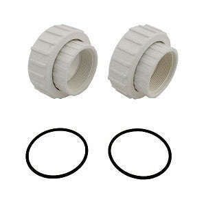 Swimming Pool Pump Unions 2-Inch Threaded with O-Ring Kit 2 Pack