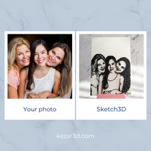 Load image into Gallery viewer, Sketch3D + Mini Easel | 3D Printed Photo Gift | kezar3d.com