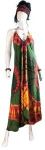 Yellowstone Morning Glory (Long halter dress)