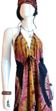 Load image into Gallery viewer, Lake Ohrid at Sunset (Cinch bust dress)