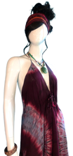 Load image into Gallery viewer, Red Wine Bath House Japan (Cinch bust dress)