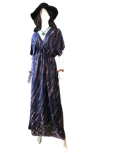 Load image into Gallery viewer, Plum Wine Divine (Long blouse dress)