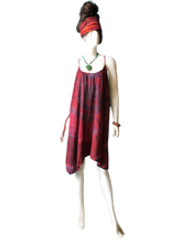 Load image into Gallery viewer, Red Wine Bath House Japan (Short T-strap Dress)