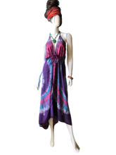 Load image into Gallery viewer, Teal Eyed Coral (Cinch bust dress)