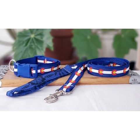 Colorado Flag Leash and Collar Set
