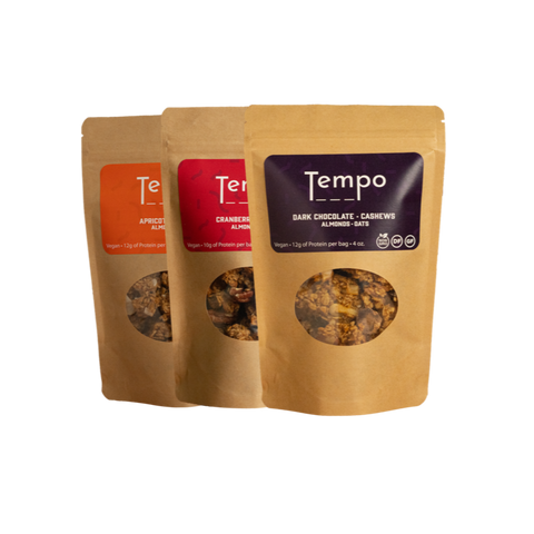 Sampler pack of Tempo Granola Cluster Snacks from Farmers Market in Denver, CO